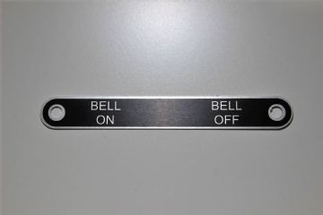 GPO 300 Series Telephone 'Bell On/Bell Off' Aluminium Label